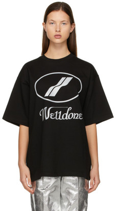 we11done Black Reflective Logo T-Shirt
