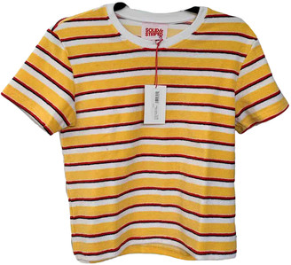 Solid & Striped Yellow Cotton Tops