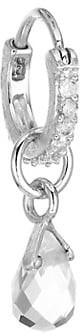 Jude Frances Petites 18K White Gold Petite White Topaz Briolette Single Earring Charm