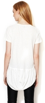 Elizabeth and James Romy Tee with Pleated Shirt Tail