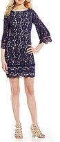 Vince Camuto Jewel Neck 3/4 Sleeve Lace Sheath Dress