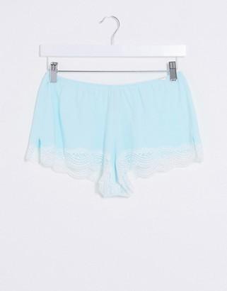 Dorina Ady organic cotton pyjama shorts in sage