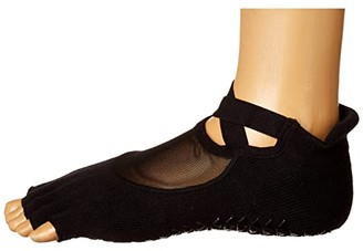 Richer Poorer Pointe Studio Clean Cut Grip Toeless (Black) Women's Low Cut Socks Shoes