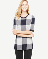 Ann Taylor Gingham Tunic Sweater