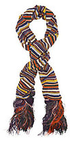 Missoni Lurex Stripe Fringe Trim Scarf