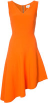 Milly asymmetric flared dress - women - Polyester/Spandex/Elastane/Viscose - L