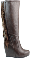 Ann Creek Women's Fringed Leg Boot