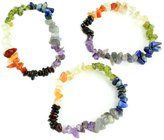 Simplicity Chakra Natural Stone Elastic Bracelet (Set of 3 pcs)