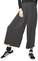 Topshop Pinspot Crop Wide Leg Trousers