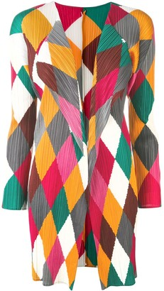 Issey Miyake Pre Owned Pleats Please diamond print cardigan