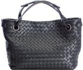 Bottega Veneta Intrecciato Black Shoulder Bag