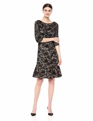 Eliza J Women's Lace Flounce Hem Dress