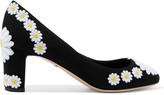 Dolce & Gabbana Floral-appliquéd canvas pumps