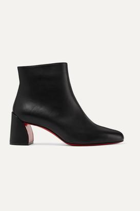Christian Louboutin Turela 55 Leather Ankle Boots - Black