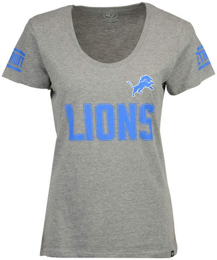 '47 Women Detroit Lions Ultra Club Scoop T-Shirt