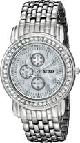 XOXO Women's Tone Bracelet With Rhinestones Accent Watch XO5314