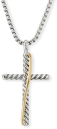 David Yurman Crossover Cross Necklace w/ 18k Gold