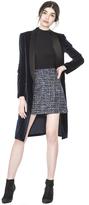 Alice + Olivia Kylie Velvet Long Shawl Collar Jacket