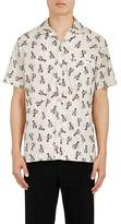 Lanvin Men's Lobster-Print Cotton Bowling Shirt