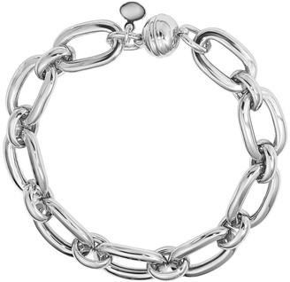 Italian Silver Oval Link Magnetic Bracelet, 21.5g