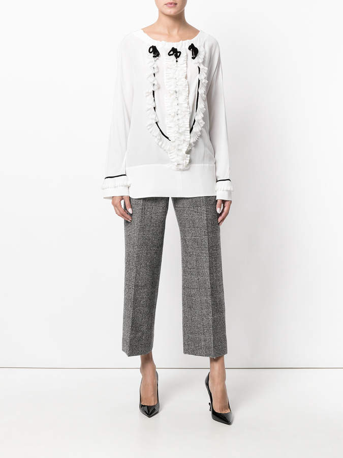 Ermanno Scervino cropped tailored trousers