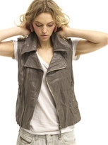 Guna Leather moto vest