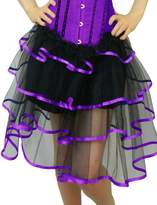 Yummy Bee Womens Long Frilly Tutu Skirt Burlesque Costume Size 12 - 14