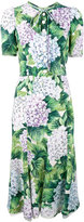 Dolce & Gabbana Kate hydrangea print dress - women - Silk/Viscose - 44