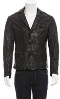 Emporio Armani Leather Button-Up Jacket