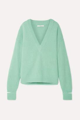 Tibi Oversized Cutout Alpaca-blend Sweater - Mint