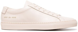 Common Projects nude Achilles leather sneakers