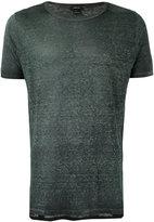 Avant Toi crew neck T-shirt - men - Linen/Flax - L