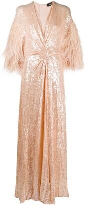 Jenny Packham Paradise V-neck sequin dress