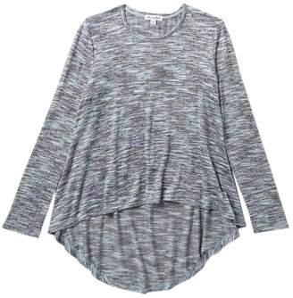 Love, Fire Knit Marled Long Sleeve High/Low Top (Big Girls)