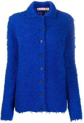 Marni Textured Fitted Cardigan