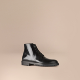 Burberry Lace-up Leather Boots