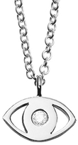 Minor Obsessions Evil Eye Necklace with Diamond in White Gold