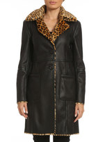 Badgley Mischka Faux-Leather Reversible Jacket