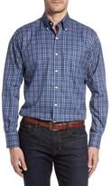 Peter Millar Men's Nanoluxe Pinwheel Regular Fit Check Sport Shirt