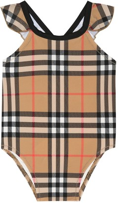 BURBERRY KIDS Baby Vintage Check swimsuit