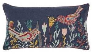"""Rizzy Home Floral Polyester Filled Decorative Pillow, 26"""" x 14"""""""