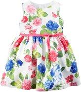 Carter's Floral Dress (Baby) - Pink/Blue-12 Months