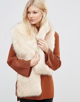 7X Faux Fur Wide Scarf