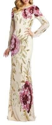 Mac Duggal Sequined Mermaid Gown