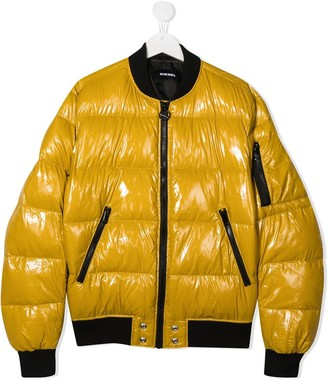 Diesel TEEN padded bomber jacket
