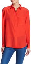 The Kooples Long Sleeve Button Up Silk Shirt