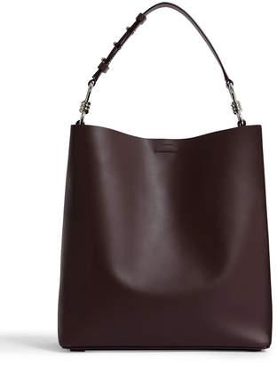 AllSaints Captain North/South Leather Tote Bag