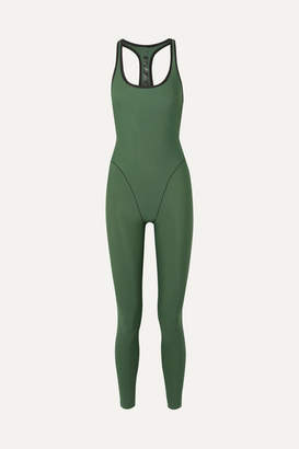 Adam Selman Cutout Stretch Jumpsuit - Army green