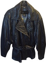 Laurèl Black Leather Leather Jacket for Women