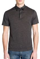 Emporio Armani Melange Wool-Blend Polo Shirt